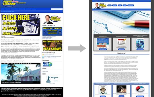 website refresh example