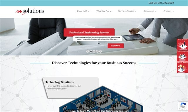 IM Solutions Home page
