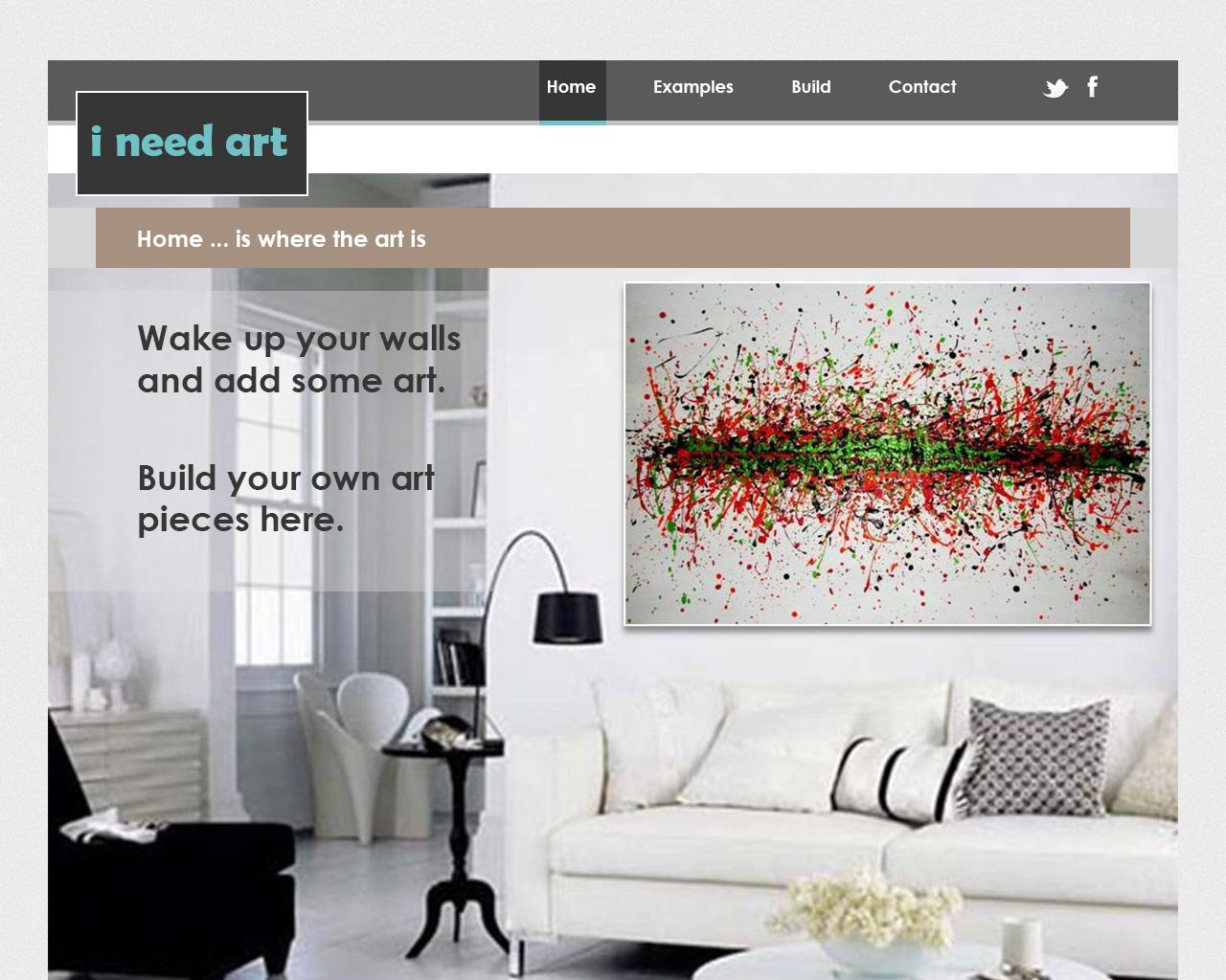 web design for custom art website